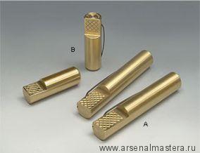 Упор верстачный круглый латунный Veritas Bench Pup  60 мм, 2 штуки, 05G0404