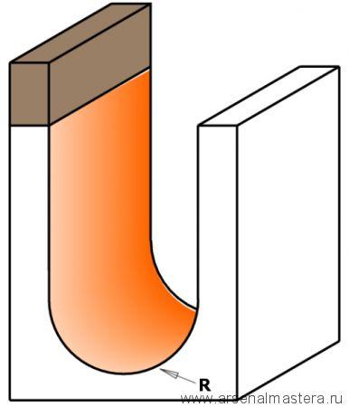 Фреза пазовая радиусная CMT R=4,75 S=8 D=9,5x6,4