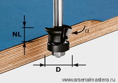 Фреза FESTOOL пригоночная, для снятия фаски HW S8 D24/0°+45°