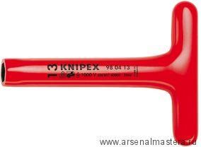 Ключ гаечный торцовый с прочной Т-образной ручкой VDE 1000 V KNIPEX 98 04 08