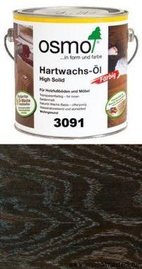 """Цветное масло с твердым воском Osmo Hartwachs-Ol Farbig слабо пигментированное """"Эффект металик"""" 3091 Серебро, 2,5л"""