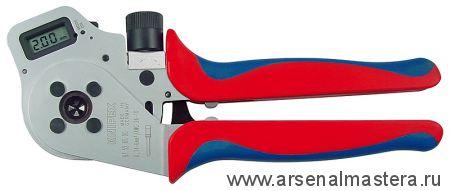 Инструмент для тетрагональной опрессовки контактов (ИНСТРУМЕНТ для опрессовки кабельных наконечников) KNIPEX 97 52 65 DG A