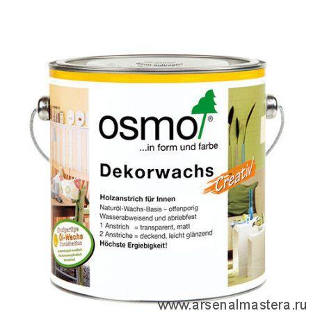 """Цветное масло для древесины """"Креатив"""" Osmo Dekorwachs Creativ 3186 Белое матовое, 2,5л"""