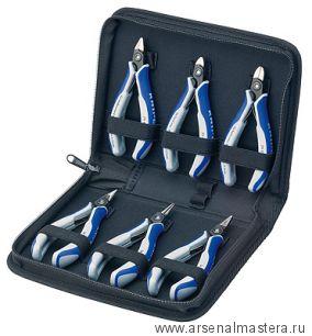 Набор инструментов для электроники, 6 предметов в кейсе, KNIPEX 00 20 16 P