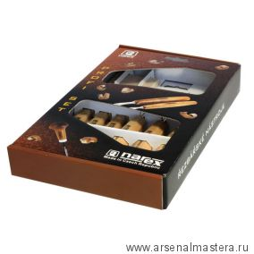Набор резцов Standart 3 шт + ножи Standart 3 шт + абразивный брусок Narex в картонной коробке 8946 10