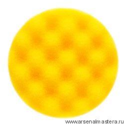 Желтый рельефный поролоновый полировальный диск Mirka 85 мм (2шт в уп)