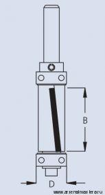 Фреза концевая обгонная для работы по шаблону W.P.W. FPS8192