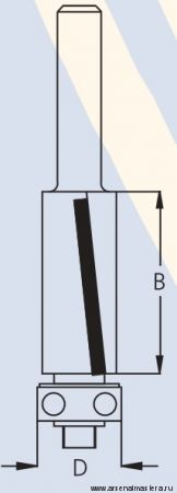 Фреза концевая обгонная c выходом стружки вниз W.P.W. FS81902