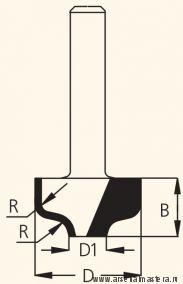 Фреза концевая врезная профильная W.P.W. RRA3502