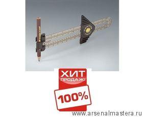 Три в одном: угольник + циркуль + линейка Veritas Carpenters Gauge М00003477  05n36.01 160 мм