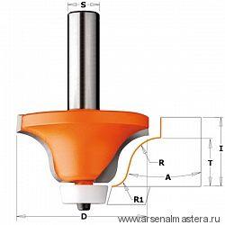 CMT 980.542.11 Фреза по иск.камню радиусная R=12,7-6,35 (Мойка) (нижн. подш.картридж) S=12 D=54