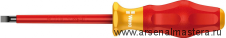 Изолированная шлицевая отвертка Kraftform Comfort WERA 1160 i VDE, 0.8x4.0x100 мм, 031583