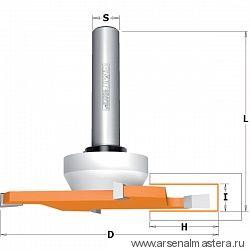 CMT 822.033.11B Фреза концевая пазовая для искусственного камня HM S=12,7X70 D=92x6,35x82 RH