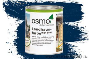 Непрозрачная краска для наружных работ Osmo Landhausfarbe 2506 темно-синяя 0,75 л