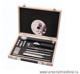Набор токарный для точения чаш Robert Sorby Sovereign Deluxe Hollowing Tool Set в деревянном ящике М00011941
