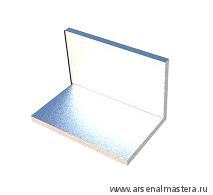 Уголок 130 мм алюминиевый  (без отверстий) для крепления профиль-шины