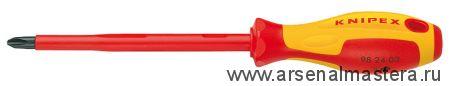Отвертка для винтов с крестообразным шлицем Phillips KNIPEX 98 24 04