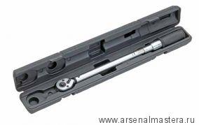 Динамометрический трещоточный ключ (гаечный) с флажковым реверсом, 405-435 мм в футляре  HEYCO 50882
