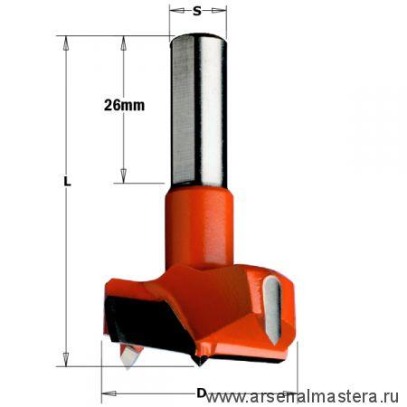 CMT 317.350.11 Сверло HW для присадочного станка 35x57,5 Z=2+2 S=10x26 RH