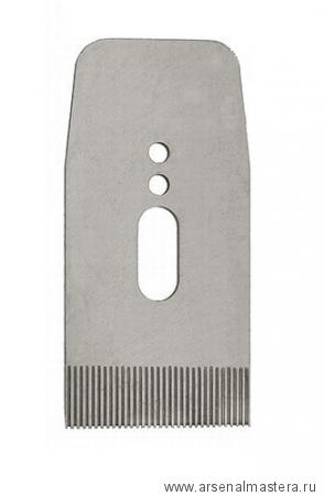 Нож зубчатый для рубанков Veritas LA JackPlane & BevelUp 57 мм (А2) 38 град с насечкой 25 tpi