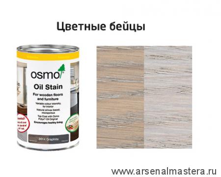 Цветные бейцы на масляной основе для тонирования деревянных полов Osmo Ol-Beize 3518 светло-серый 0,005 л