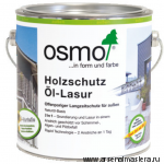 Защитное масло-лазурь для древесины с эффектом серебра Osmo Holzschutz Öl-Lasur Effekt 1141 Кварц серебро 0,125 л
