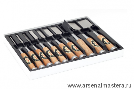 Премиум стамески японские Shirogami (A3) 10штук 3,6,9,12,15,18,24,30,36,42мм в коробке MikiTool
