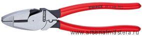 """Клещи с токоведущим кабелем """"Lineman's Pliers"""" (ПАССАТИЖИ универсальные """"американская модель"""") KNIPEX 09 11 240"""
