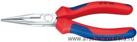 Круглогубцы с плоскими губками и режушими кромками KNIPEX 25 05 140