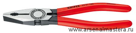 Плоскогубцы комбинированные (ПАССАТИЖИ) KNIPEX 03 01 180