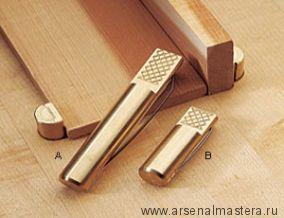 Упор верстачный круглый латунный Veritas Bench Dog 110 мм, 2 штуки, 05G04.02
