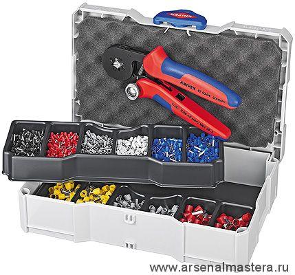 Набор кабельных наконечников с инструментом для опрессовки гильз контактных KNIPEX 97 90 09
