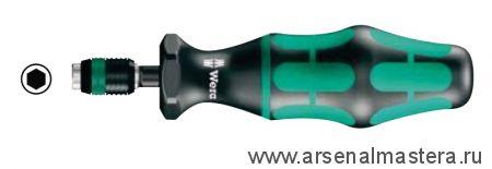 Регулируемая динамометрическая отвертка WERA Kraftform с предварительной настройкой с быстрозажимным патроном Rapidaptor Nm 0,30-1,00 Серия 7400