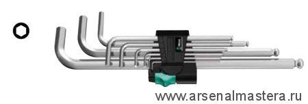 Набор Г-образных ключей для винтов с внутренним шестигранником, метрических, хромированных WERA 950 PKL/9 SM N