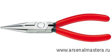 Круглогубцы радиомонтажные с плоскими губками и режушими кромками, 160 мм, KNIPEX 25 01 160
