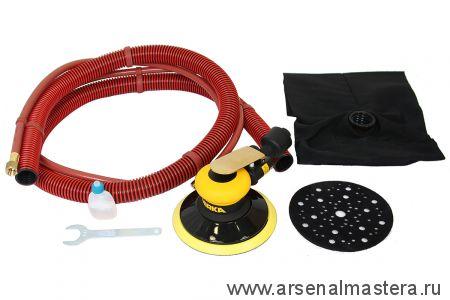 Шлифовальная пневматическая машинка для тонкой шлифовки MIRKA ROS 625DB 150 мм орбита 2,5 мм с мешком для сбора пыли