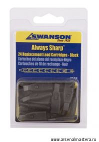 Грифели для карандаша Swanson Always Sharp 24 шт ЧЕРНЫЕ М00008600