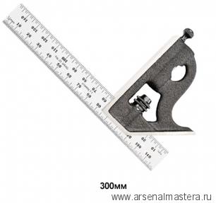 Угольник Starrett 11MH-300 300 мм с подвижной подошвой, уровнем и чертилкой М00006955