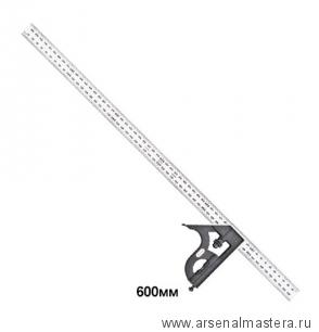 Угольник Starrett 11MH-600 600 мм с подвижной подошвой, уровнем и чертилкой