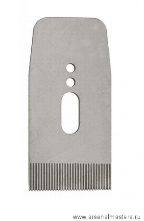 Нож зубчатый для рубанков Veritas LA JackPlane BevelUp 57 мм (А2) 38 град с насечкой 17 tpi 05P34.08 М00011257