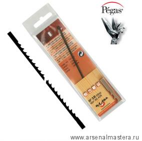 Пилки лобзиковые Pegas по дереву N7R Skip Reverse 0.45х1.15х130мм 10tpi,  доп. обратный зуб 12штук
