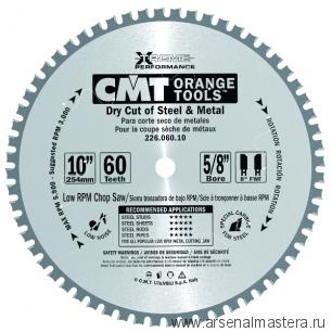 CMT 226.072.14 Диск пильный железо, сталь. (Сухой рез) 355x25,4x2,2/1,8 0 8 FWF Z72
