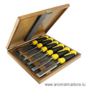 Набор из 6 стамесок NAREX Super 2009 Line Profi плоских в деревянном ящике (6, 10, 12, 16, 20, 26 мм) 852900